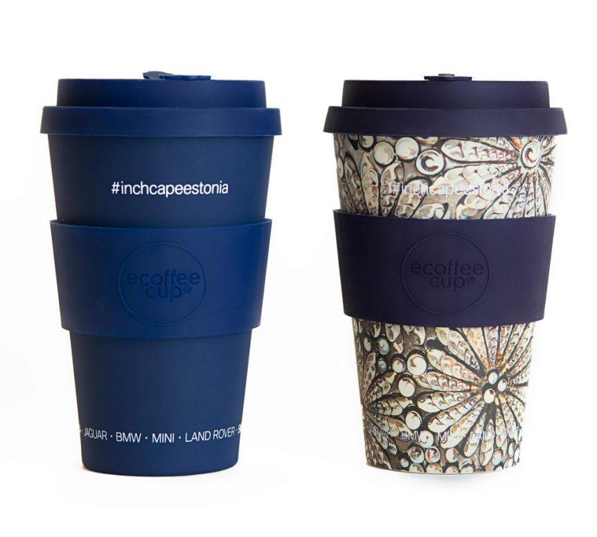 kohvitopsid logoga Markly siiditrükk